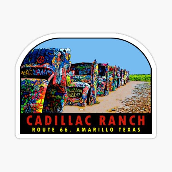 Cadillac Ranch Cadillac Ranch Texas Vintage Sticker