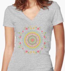 Spring Awakens Women's Fitted V-Neck T-Shirt