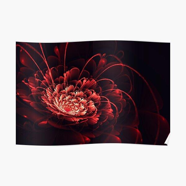Crimson - 3D Bloom Fractal Poster