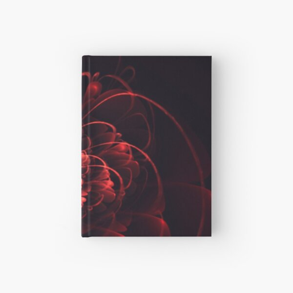 Crimson - 3D Bloom Fractal Hardcover Journal