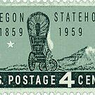 Oregon Statehood Postage Stamp by Multnomah ESD Outdoor School