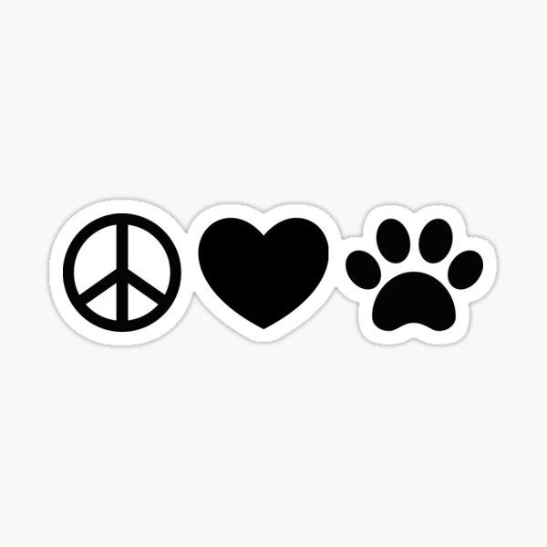 Peace, Love, Rescue Sticker