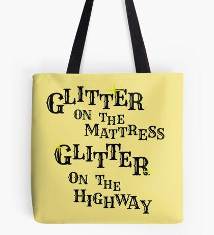 Black Glitter Tote Bag