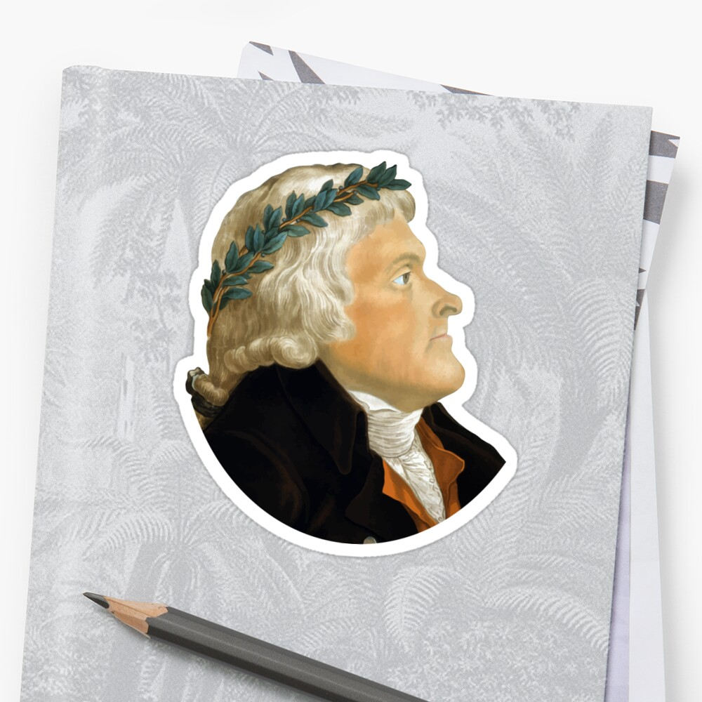 Präsident Thomas Jefferson Sticker