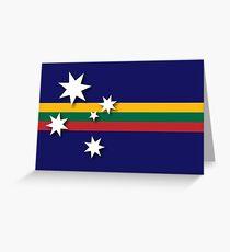 Australian-Lithuanian Flag Greeting Card