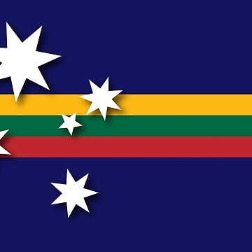Australian-Lithuanian Flag by SKVee