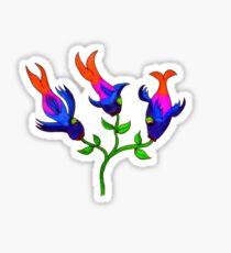 Fishy Flowers Sticker Sticker