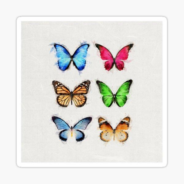 Colorful Butterflies Sticker