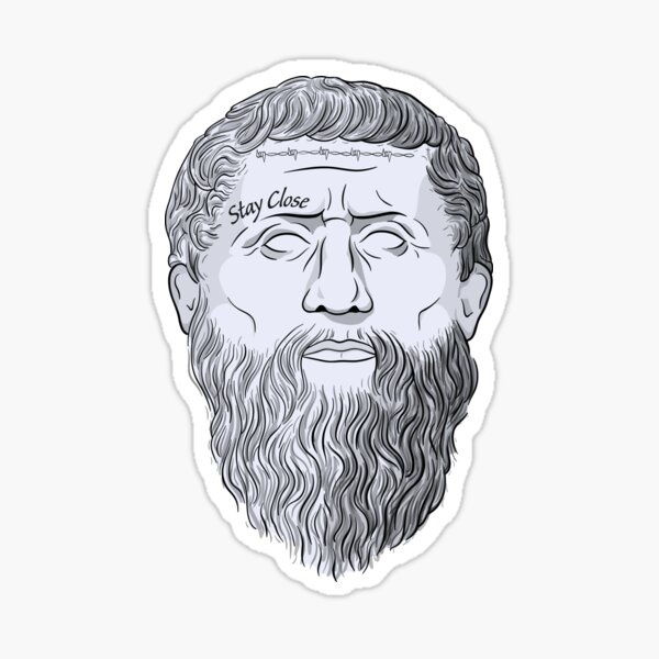 Philosopher Plato Presented With Tattoos Sticker