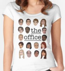 The Office Crew Women's Fitted Scoop T-Shirt