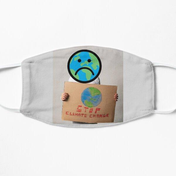 Stoppen Sie den Klimawandel Flache Maske