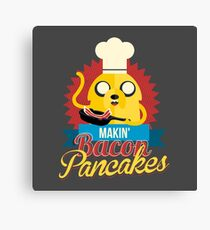 Jake The Dog Making Bacon Pancakes Canvas Print