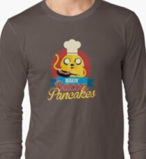 Jake The Dog Making Bacon Pancakes Long Sleeve T-Shirt