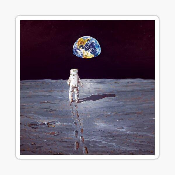 Walking on the moon Sticker