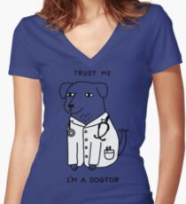 Dogtor Women's Fitted V-Neck T-Shirt