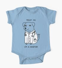 Body de manga corta para bebé Dogtor