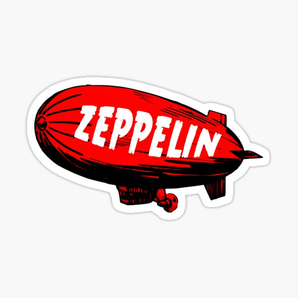 red zeppelin Sticker