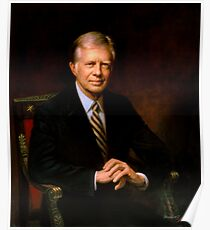 President Jimmy Carter Painting Poster