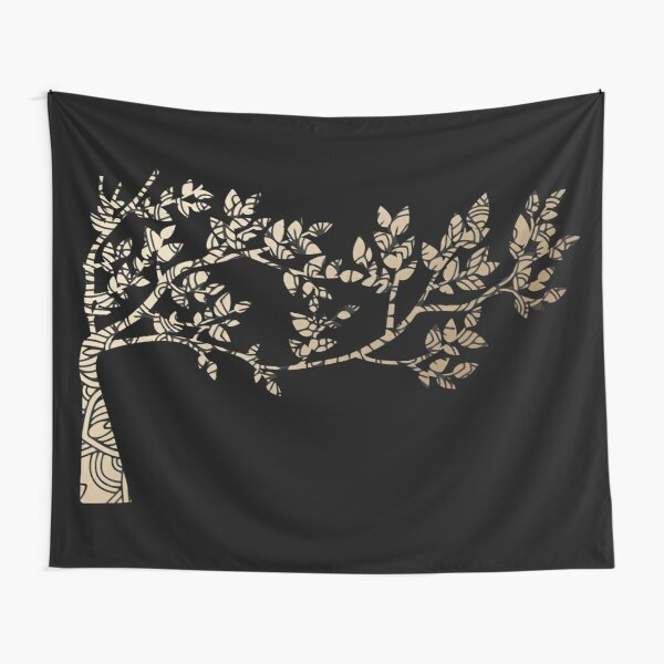 Golden tree mandala  Tapestry