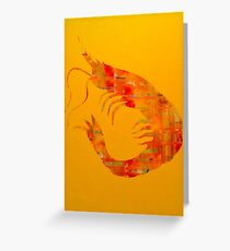 Happy Shrimp Greeting Card
