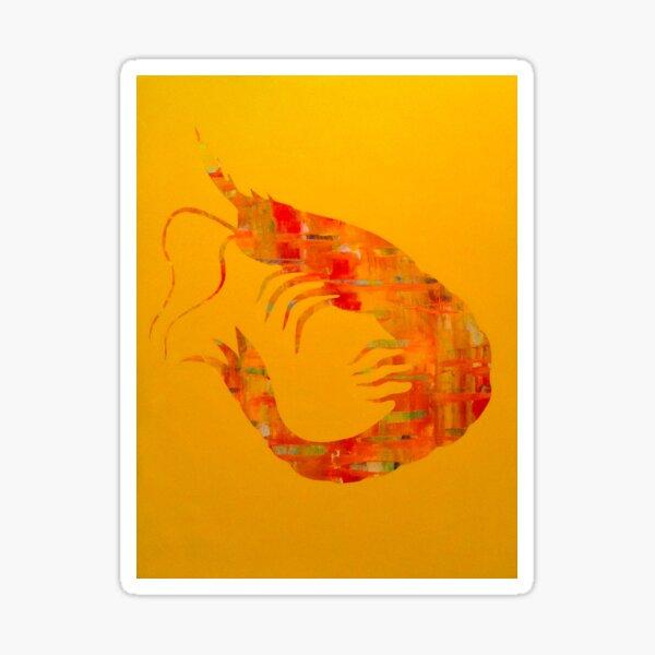 Happy Shrimp Sticker