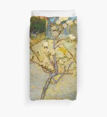 1888-Vincent van Gogh-Small pear tree in blossom-46x73 Duvet Cover