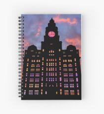 Royal Liver Building Spiral Notebook