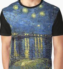 1888-Vincent van Gogh-Starry Night-72x92 Graphic T-Shirt