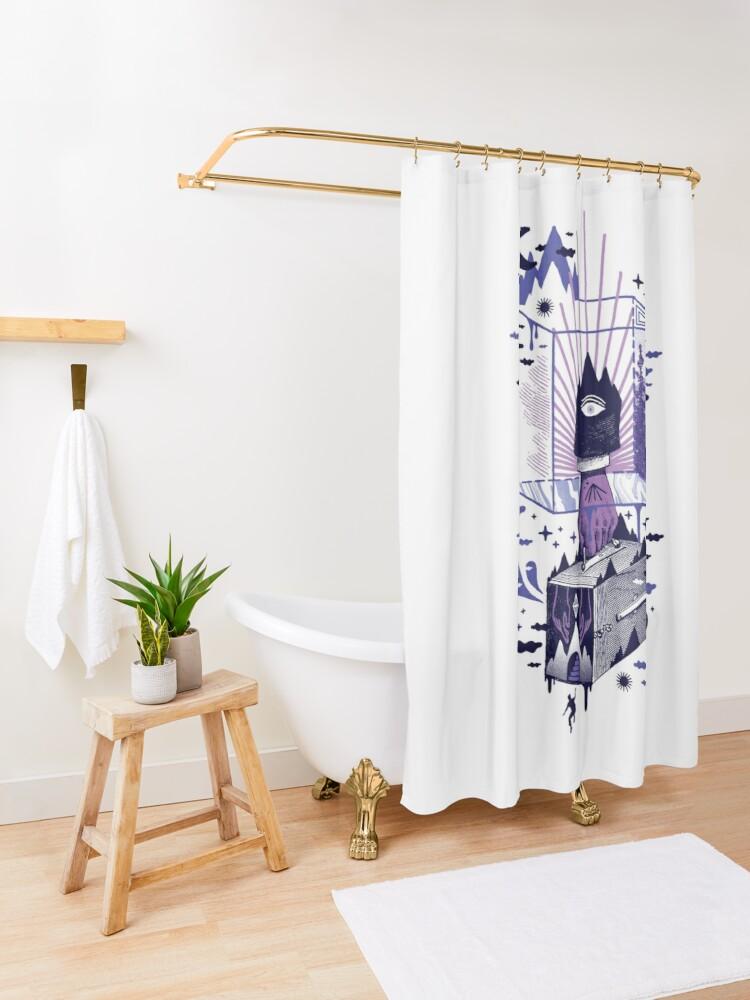 Alternate view of Nonsensical Shower Curtain