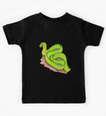 Cute little green snake Kids Tee