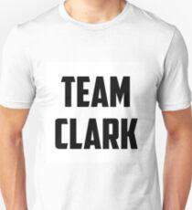 Team Clark - Black on White Unisex T-Shirt