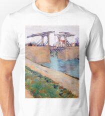 1888-Vincent van Gogh-The Langlois bridge-59,5x74 T-Shirt