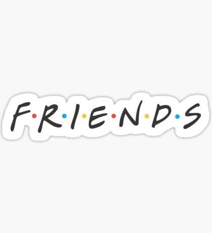 Friends high res logo Sticker