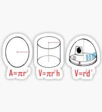 R2D2 Maths Joke Sticker