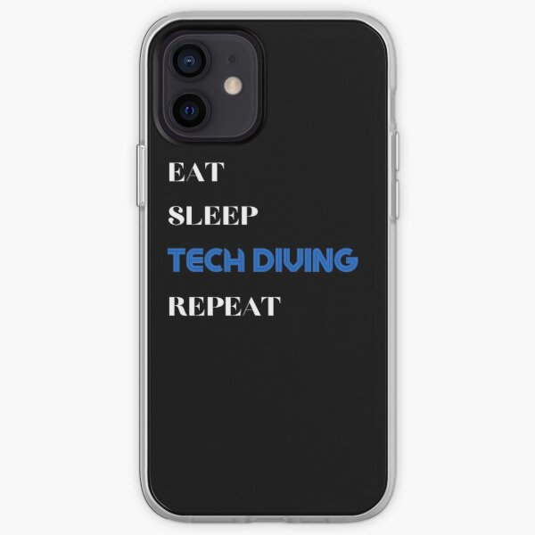 Eat Sleep Tech Diving Repeat iPhone Soft Case