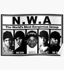 N.W.A Niggaz Wit Attitudes Poster