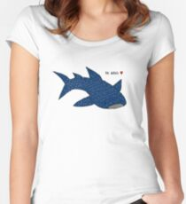 Whale Shark Love Women's Fitted Scoop T-Shirt