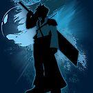 Super Smash Bros. Blue Advent Cloud Silhouette by jewlecho