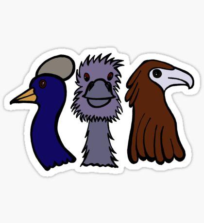Bird Trio #3 Sticker