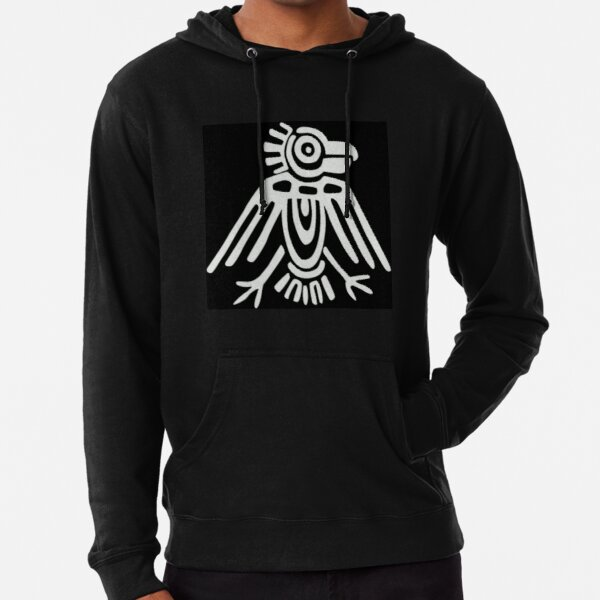 Mayan Icons: Aztec Drawing Lightweight Hoodie