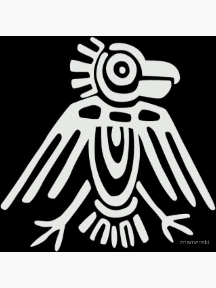 Mayan Icons: Aztec Drawing by znamenski