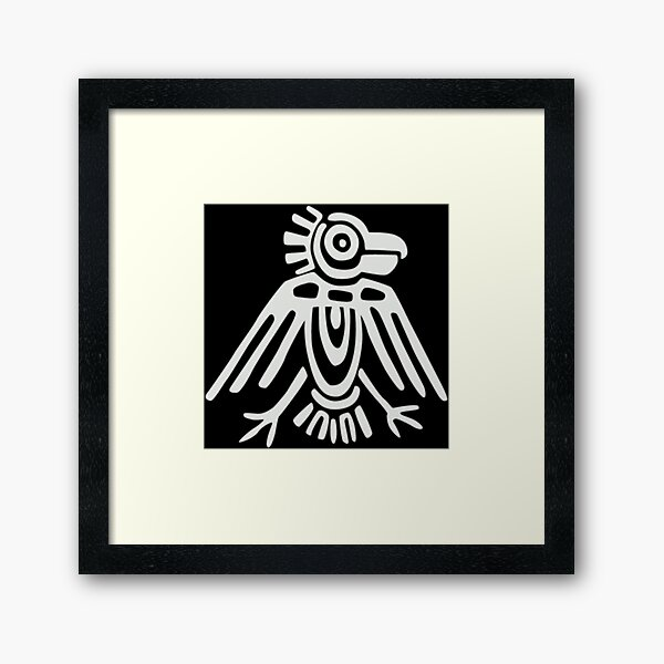 Mayan Icons: Aztec Drawing Framed Art Print
