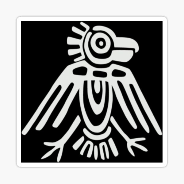 Mayan Icons: Aztec Drawing Sticker