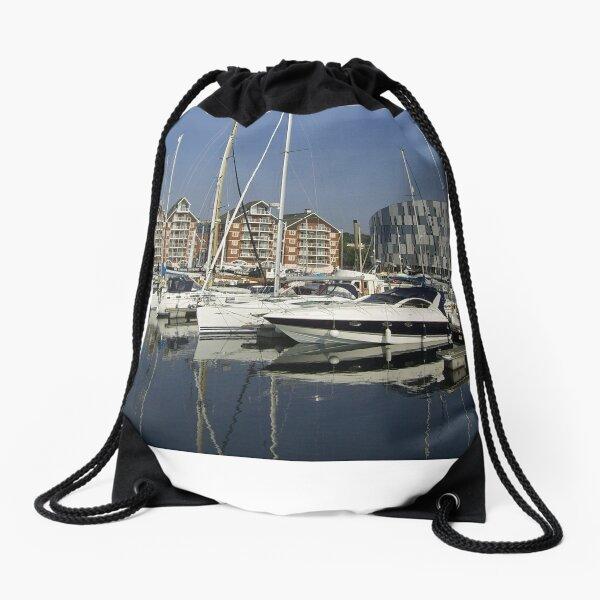 University Campus and Ipswich Waterfront Drawstring Bag