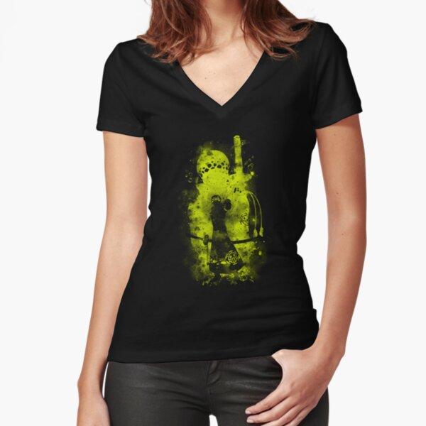 Trafalgar law v2 Fitted V-Neck T-Shirt