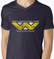 Weyland Yutani (Scuffed logo) Men's V-Neck T-Shirt