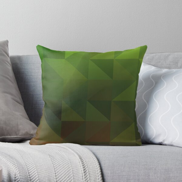 Geometric Contemporary Camouflage Throw Pillow