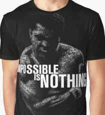 """Mohamed Ali """"impossible is nothing"""" Graphic T-Shirt"""