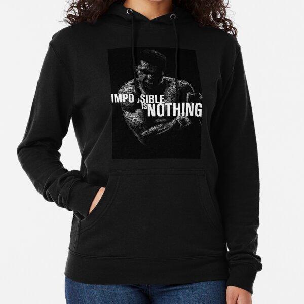 """Mohamed Ali """"impossible n'est rien"""" Sweat à capuche léger"""
