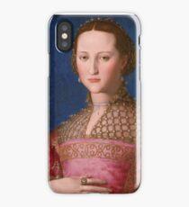 Agnolo Bronzino - Eleonora of Toledo 1543 Woman Portrait iPhone Case/Skin